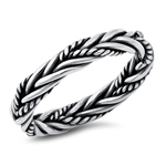 Silver Ring - Rope Braid - $6.99