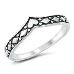 Silver Ring - V-Shaped - $2.70