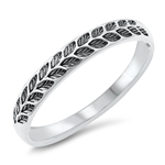 Silver Ring - Leaves - $2.60
