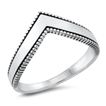 Silver Ring - V Shaped - $3.28