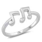 Silver Ring - Musical Notes - $3.56