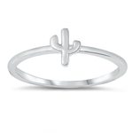 Silver Ring - Little Cactus - $2.16
