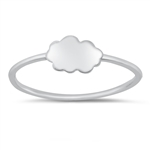 Silver Ring - Cloud - $2.19