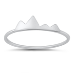 Silver Ring - Mountains - $2.13