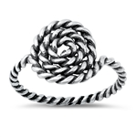 Silver Ring - Rope - $3.45