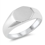 Silver Ring - Signet - $6.41