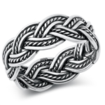 Silver Ring - Braided Band - $7.99