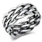 Silver Ring - Braided Band - $9.78