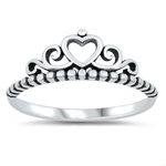 Silver Ring - Crown - $2.75