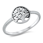 Silver Ring - Tree of Life - $2.55