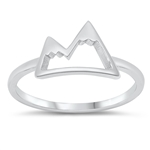 Silver Ring - Snowy Mountain - $2.98