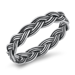 Silver Ring - Braided Band - $2.78