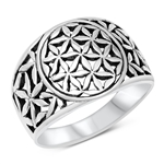 Silver Ring - Floral Filigree - $9.85