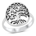 Silver Ring - Tree of Life - $5.41