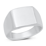 Silver Ring - Square Signet - $11.39