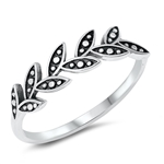Silver Ring - Leaves - $2.69