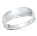 Silver Ring - Concave Band - $4.44