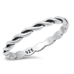 Silver Ring - Braided Band - $2.77