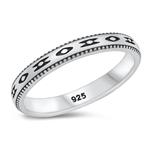 Silver Ring - Aztec Band - $4.39