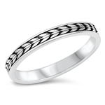 Silver Ring - Thin Design Band - $3.55