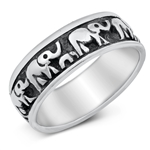 Silver Ring - Elephants - $8.44
