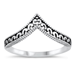 Silver Ring - V Shape - $5.03