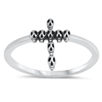 Silver Ring - Skull Cross - $2.50