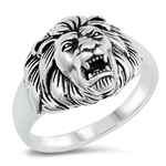 Silver Ring - Lion Head - $10.66