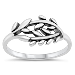 Silver Ring - Leaves - $3.59
