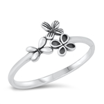 Silver Ring - Butterflies - $2.33