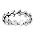 Silver Ring - Leaves - $3.22