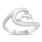 Silver Ring - Turtle and Dolphin - $4.44