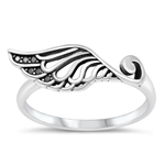Silver Ring - Angel Wing - $4.24