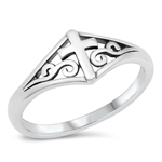 Silver Ring - Cross - $3.01