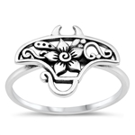 Silver Ring - Tropical Stingray - $3.64
