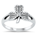 Silver Ring - Fall Leaf - $3.92