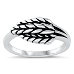 Silver Ring - Leaves - $4.88