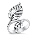 Silver Ring - Leaves - $7.1