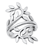 Silver Ring - Leaves - $9.35