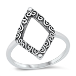 Silver Ring - Diamond Shape - $4.25
