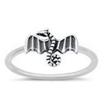 Silver Ring - Dragon - $3.20