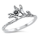 Silver Ring - Flower Branch - $3.74