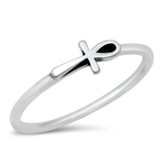 Silver Ring - Cross - $2.61