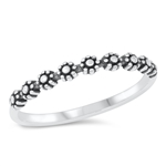 Silver Ring - Little Flowers - $2.76