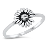 Silver Ring - She Loves Me Sunflower - $3.32