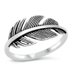 Silver Ring - Feather - $4.95