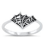 Silver Ring - Spiderweb - $2.93
