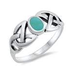 Silver Ring W/ Stone - $4.91
