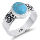 Silver Ring W/ Stone - $9.40