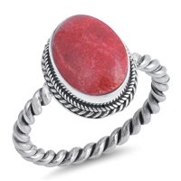 Silver Ring W/ Stone - $9.54
